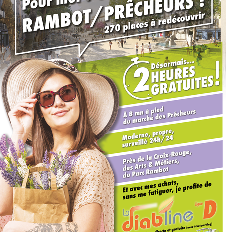 2h gratuites au Parking Rambot!